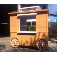 钢木结构售货亭 防腐木售货车