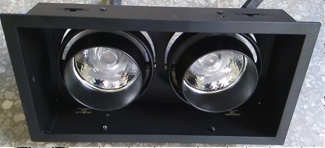 LED嵌入式格栅射灯  深藏光源格栅射灯