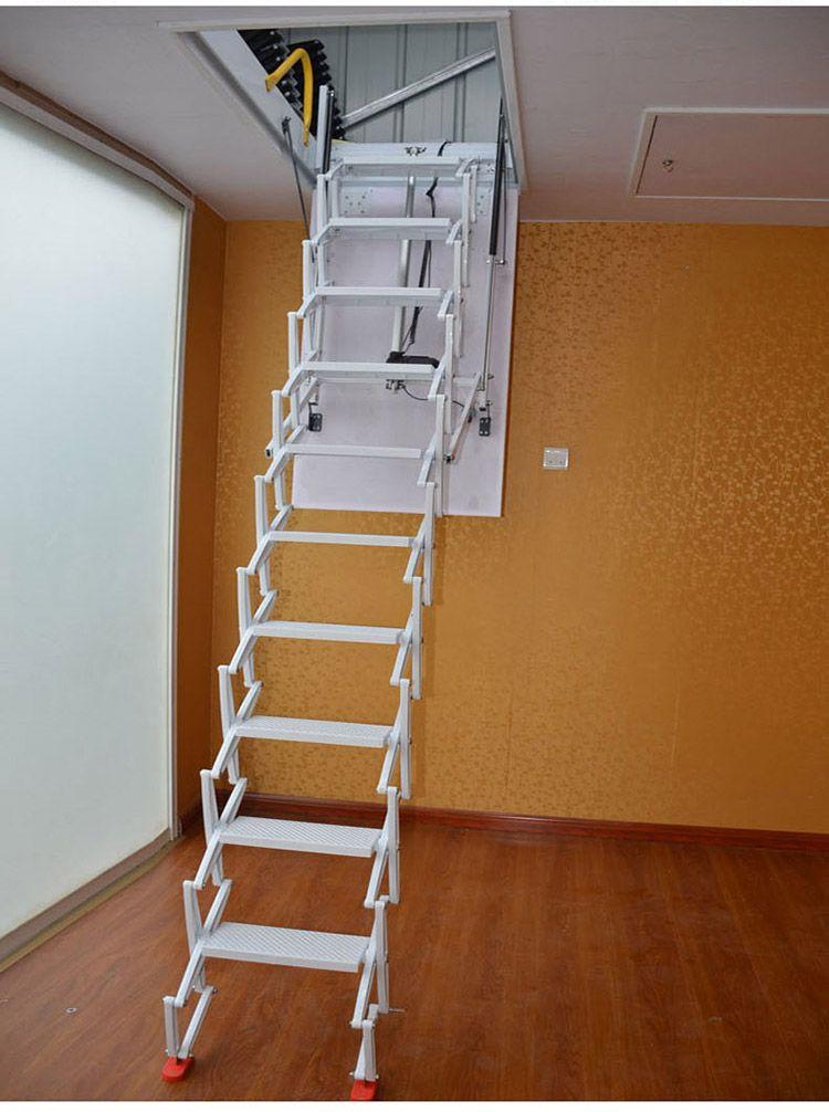 艾达电动伸缩楼梯家用伸缩楼梯阁楼楼梯图片