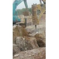 挖基础遇到硬石头开裂液压静态裂石机厂家