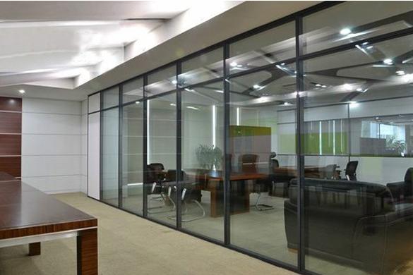 烟台办公室玻璃隔断烟台双玻百叶隔断