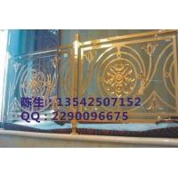 别墅专业高端金色铝雕护栏