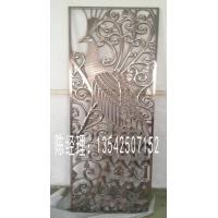 高品质凤凰铝雕拉丝古铜屏风