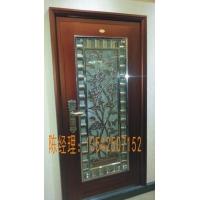 高品质铝雕牡丹花红铜不锈钢复合门