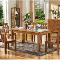 柏木餐厅家具餐桌椅实木家具成都柏木