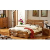 原木家具天然柏木床简约现代1.8米双人床结实全实木床