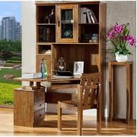 转角书桌现代简约电脑桌家用台老湿影院48试办公桌子书柜抽屉组写字台