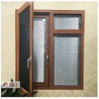 泰州专业定制128系列铝包木外开内带金钢网系统门窗