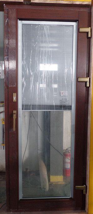 泰州贝科利尔铝包木门窗钢化中空玻璃内置磁控百叶
