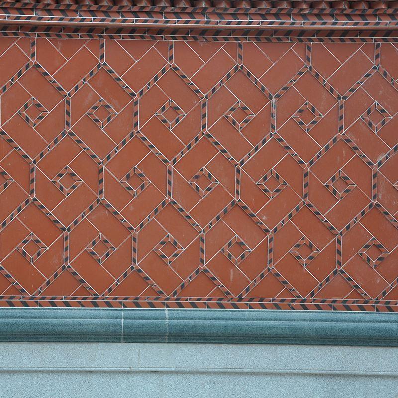 闽南仿古砖 黑条纹红砖 寺庙祠堂红砖 传统手工制作