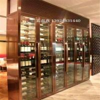 【玄品真】工程承接不锈钢工艺酒柜不锈钢彩色恒温酒柜