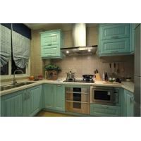 青岛莎曼迪实木橱柜定制厨房柜子定做厂家整体橱柜定制