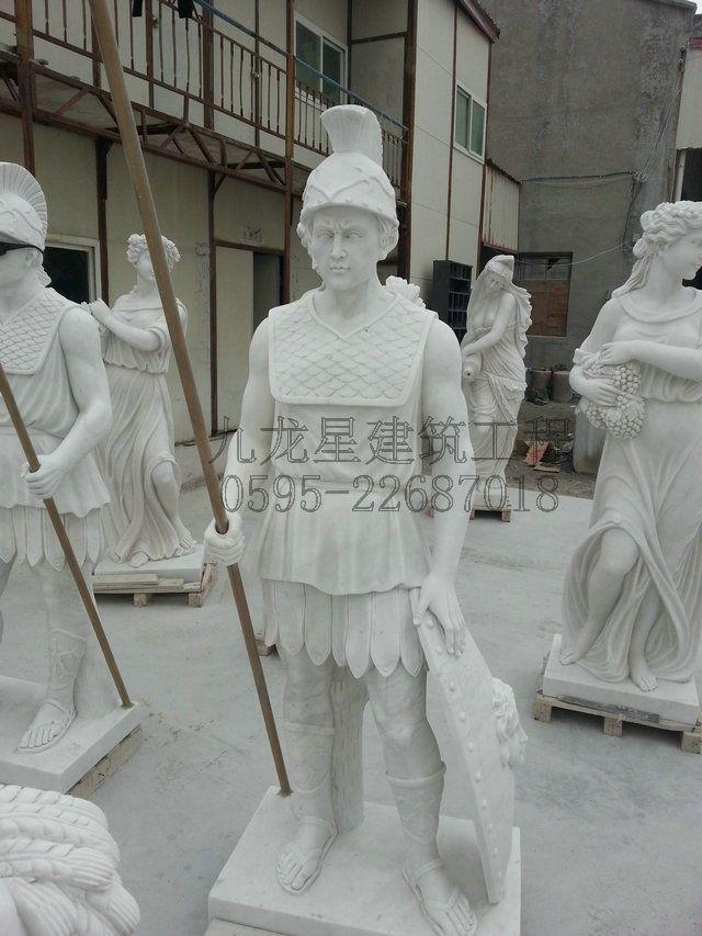 学校雕塑手绘图
