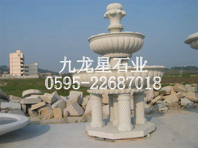 喷泉雕塑手绘图
