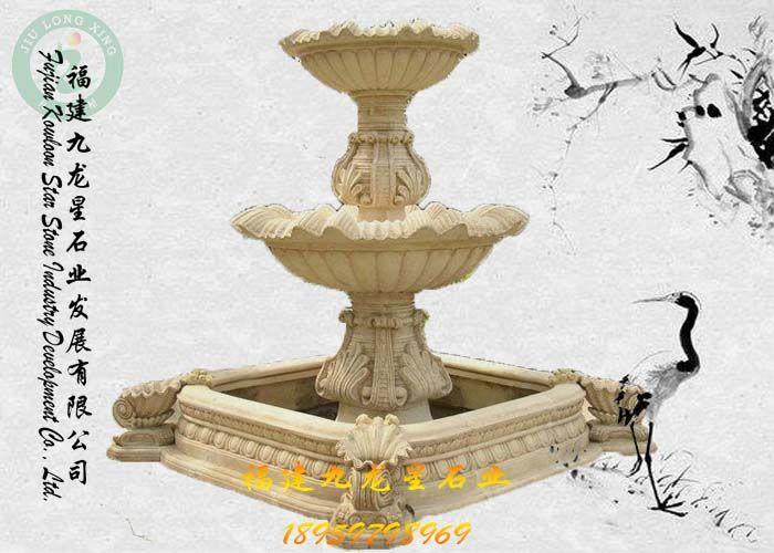 石雕水钵 石雕喷泉 景观水钵 广场喷水池