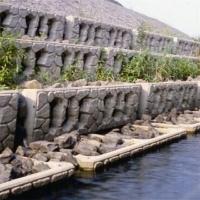 阶梯式箱型砌块台阶式挡土墙生态护坡护岸模具