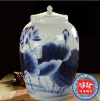 青花陶瓷酒坛 雕刻酒缸 手绘酒坛