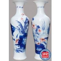 中式大花瓶 景德镇花瓶 手绘大花瓶