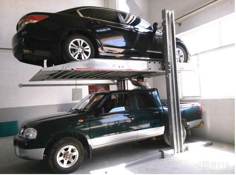 智能停车起重设备 小区专用双柱简易升降原理