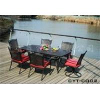 楚宜庭热销咖啡厅户外家具 铁艺桌椅 铸铝桌椅 欧式铁艺家具