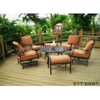 供应楚宜庭花园桌椅、客厅桌椅、铸铝桌椅、铁艺休闲桌椅