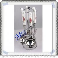 韩式陶瓷厨具 瓷柄勺瓢铲、打蛋器 厨房礼品7件套 不锈钢厨具