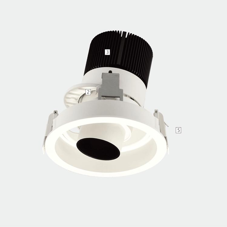"""""""灵动""""系列LED嵌入式射灯"""