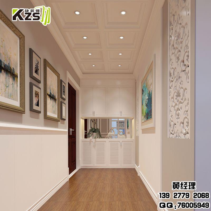 家居快装墙板装修效果 快装墙板玄关效果图