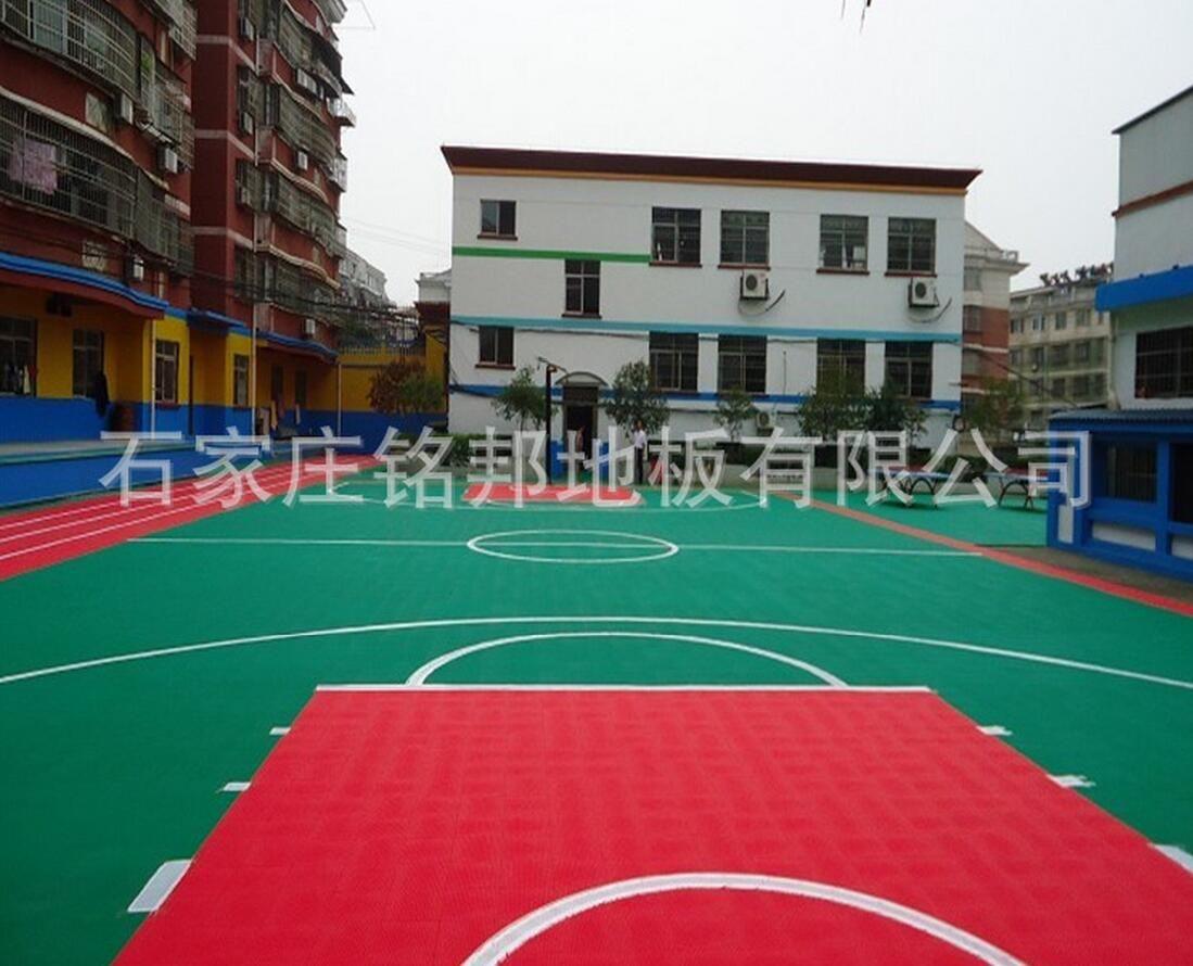 悬浮式拼装地板 幼儿园篮球排球运动地板