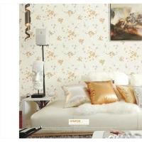花旗墙纸花清新田园3D环保无纺纸壁纸卧室客厅背景墙