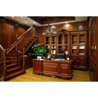 南京实木家具-南京宏顺达整木定制-书柜书桌
