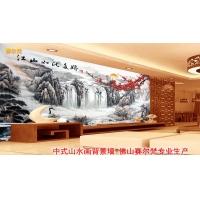 山水画图片 瓷砖电视背景墙 江山多娇