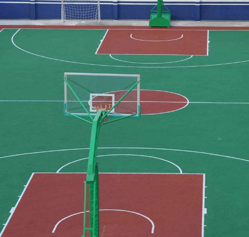 津EPDM运动地板 塑胶篮球场地铺设