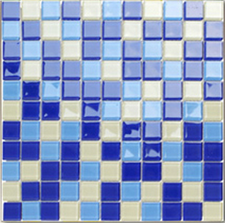 现代水晶马赛克、蓝色三渐变色防滑马赛克、泳池陶瓷马赛克