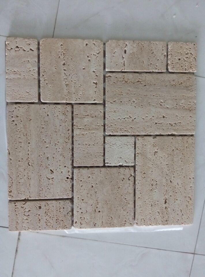 优惠石材马赛克,天然纹路大理石马赛克,地砖广场文化石