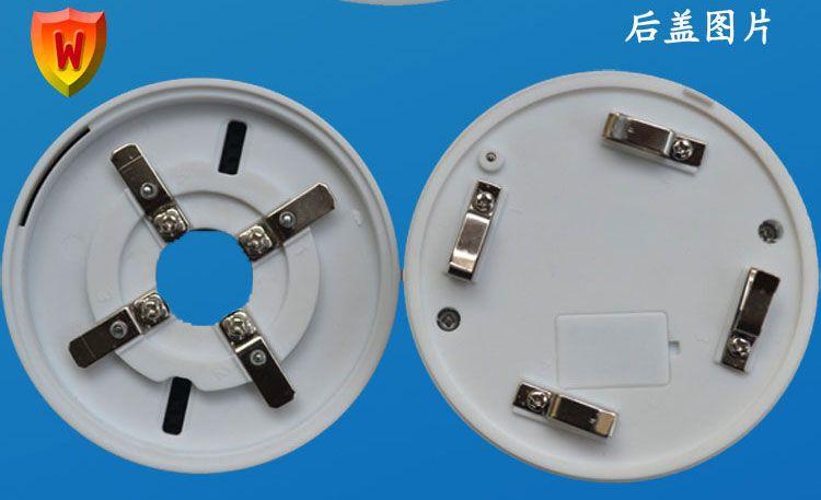 产品名称:有线联网烟雾报警器 产品型号:wg-yg-2l (联网型) 产品类型:烟雾报警器系列 wg-yg-2l (联网型)烟感输出常开/常闭可选信号,是工程联网专用烟感,可以与楼宇系统、工地工程系统采集器、楼宇报警主机及其它接收开关量信号主机对接,DC9~35V宽电压供电,连接方便。外观是工业专用设计,工业ABS防阻燃材质耐高温抗腐蚀,带金属屏蔽罩以及防尘罩。 工作状态:报警时LED灯3s间隔闪烁(正常1分钟闪烁),同时输出开关量信号由主机接收。 二、产品应用 广泛应用于商场、大厦、学校、宿舍、工厂、