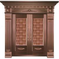 古铜艺术铜门,别墅铜大门,铜扶梯
