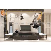 豌豆角瓷砖艺术电视背景墙  爱莲说