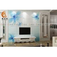 豌豆角瓷砖艺术背景墙  电视背景墙瓷砖  蓝精灵