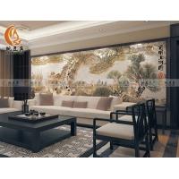豌豆瓷砖艺术电视背景墙  沙发背景墙  清明上河图