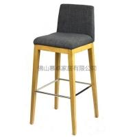 多种颜色布艺酒吧椅/时尚吧台椅/靠背高脚实木吧椅