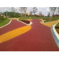陕西西安,彩色透水地坪,马路排水地坪