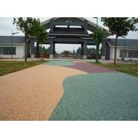 内蒙包头防滑耐磨马路彩色透水地坪