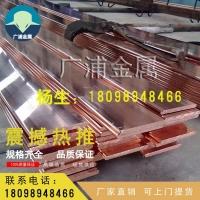 供应国标T2紫铜排 易导电导热易加工铜排