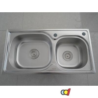 成都水槽 科的卫浴厨房双盆水槽