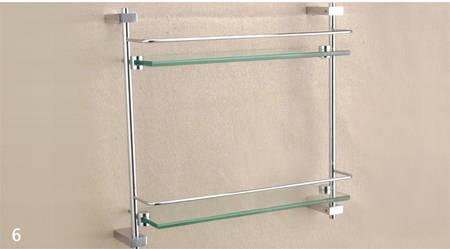 双层玻璃置物架