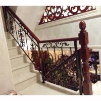 南京大理石樓梯踏步、鐵藝/實木樓梯護欄-南京唯邦裝飾工程