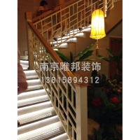南京大理石楼梯、钢木护栏-南京唯邦装饰工程