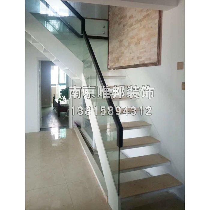 南京钢木楼梯-玻璃护栏-南京唯邦装饰工程有限公司