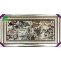 亿丝东方丝毯中式古典四季图手工真丝挂毯